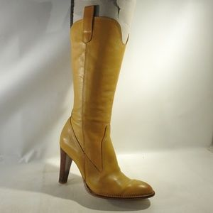 BCBGirls Size 6.5 Yellow Boots Shoes For Women